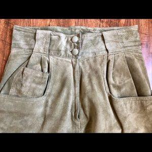 Vintage Suede Lined Pants